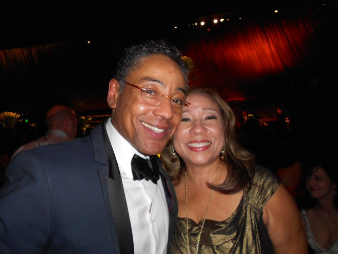 Giancarlo Esposito and Tanya Hart