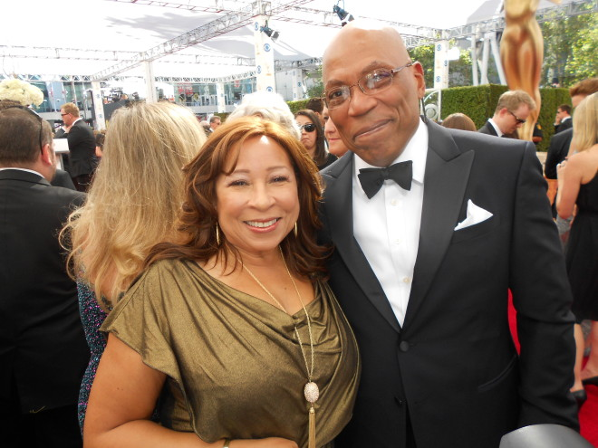 Tanya Hart and Paris Barclay, President of the Directors Guild of America