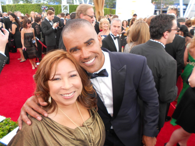 Tanya Hart and Shemar Moore