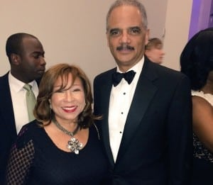 Tanya Hart and U.S. Attorney General Eric Holder