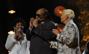 Gladys Knight, Stevie Wonder and Dionne Warwick