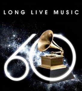 60th Annual Grammys logo
